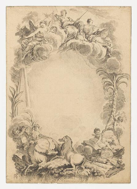 François Boucher, 'Design for an Escutcheon in Honor of William Earl Cowper  (ca. 1665-1723)', ca. 1730