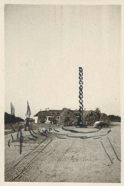 Constantin Brâncuși, 'Ink schetch for The Endless Column', 1937