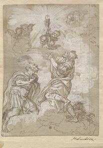 Michael Wenzel Halbax, 'Two Soldier Saints Adoring the Host', ca. 1690(?)
