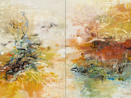 Leslie Allen, 'Quietly Tethered, Diptych', 2015