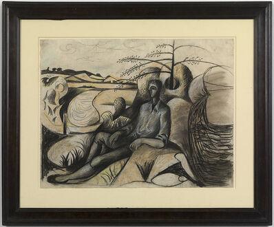 John Craxton, 'Dancer in a Landscape', 1943