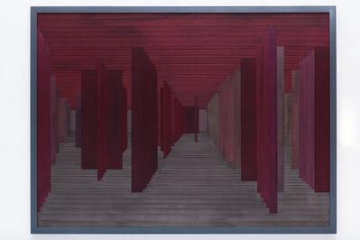 Janaina Mello Landini, 'Labirintos Rizomáticos série II D - vermelho [red]', 2014