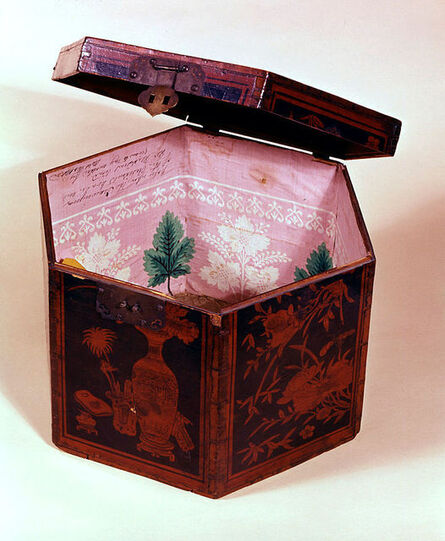 Unknown Artist, 'Tea Box with White House Wallpaper', ca. 1809-1811