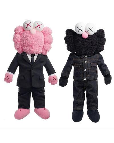 KAWS, 'BFF Dior Plush Set Pink/Black', 2018