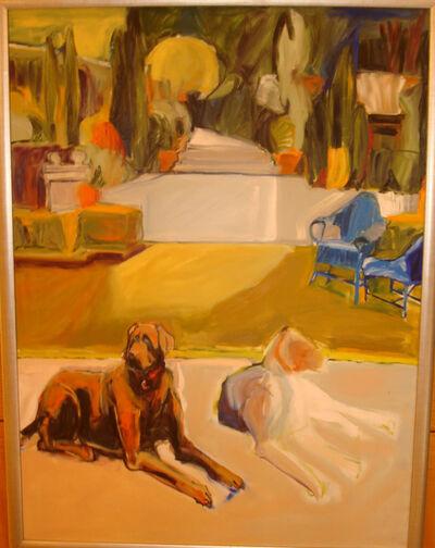Paula Wachsstock, 'Two Dogs Resting II'
