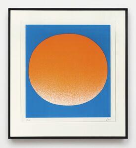 Rupprecht Geiger, 'orange auf blau (hell)', 1967