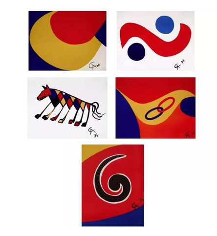 "Alexander Calder, 'Flying Colors Collection (5 Artworks); 1) ""Skyswirl,"" 2) ""Sky Bird,"" 3) ""Convection,"" 4) ""Beastie,"" 5) ""Friendship.""', 1974"