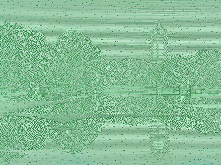 Lu Xinjian 陆新建, 'Reflections / Weiming Lake', 2016