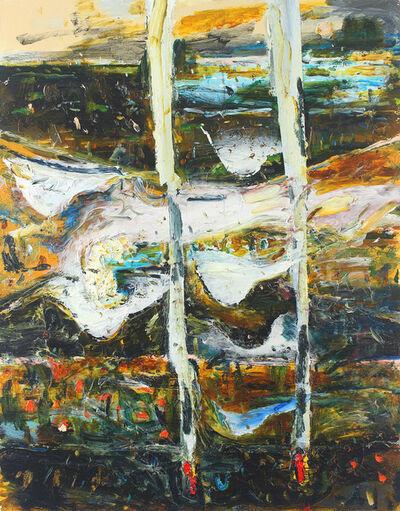 John Walker (b.1939), 'Two Brush Fires', 2013