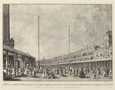 Giovanni Battista Brustolon after Canaletto, 'Procession on Corpus Christi Day in the Piazza San Marco', 1763/1766