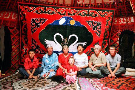 Gulnara Kasmalieva & Muratbek Djumaliev, 'Family in Yurt', 2006