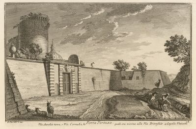 Giuseppe Vasi, 'Porta Pertusa', 1747-1801