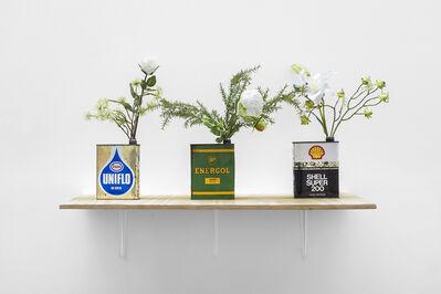 Minerva Cuevas, 'Energol - Motor oil vases', 2019