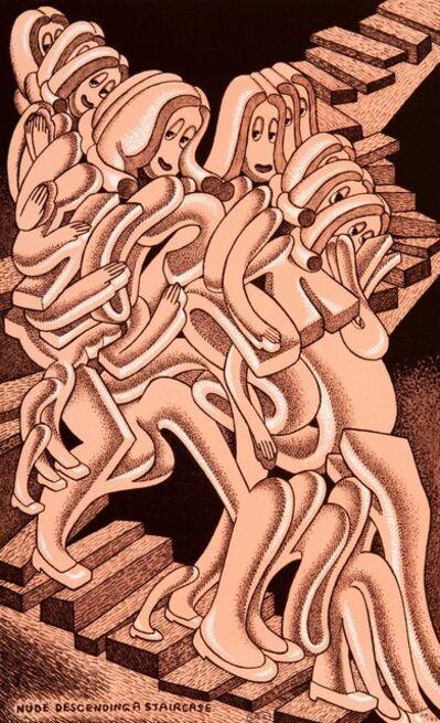 Peter Saul, 'Nude Descending a Staircase', 1976