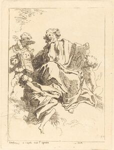 Jean-Honoré Fragonard after Giovanni Lanfranco, 'Saint Luke', 1761/1764