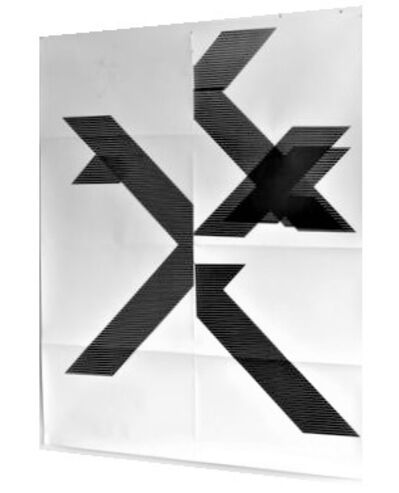 """Wade Guyton, '""""X"""" (Untitled, 2018, Epson Ultrachrome inkjet on linen), Signed/Numbered Edition of 100, 84 x 69 in.', 2018"""