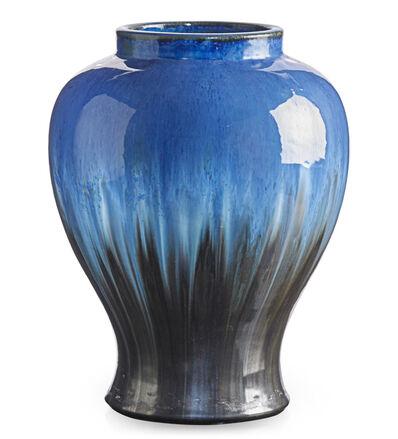 Fulper Pottery, 'Large vase, Chinese Blue and gunmetal flambé glaze, Flemington, NJ', ca. 1920