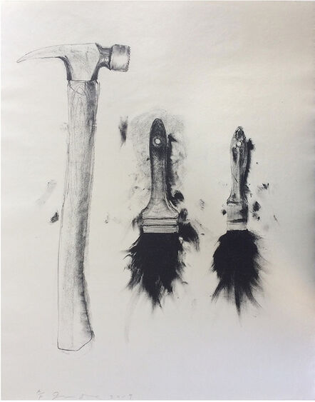 Jim Dine, 'Hammer and Two Brushes', 2010