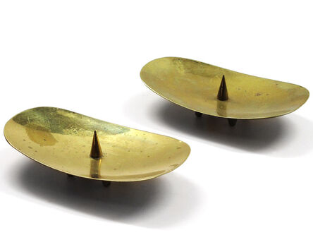 Carl Auböck, 'Pair of Candle Holders', 1950s