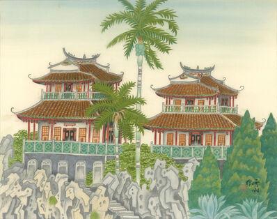 Kuo Hsueh-Hu 郭雪湖, 'Old Buildings Greet the New Spring', 1993
