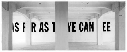 """Martí Cormand, 'Formalizing their concept: Lawrence Weiner's """"As far as the eye can see""""', 2015-2016"""