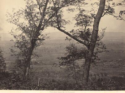 George N. Barnard, 'Orchard Knob from Mission Ridge', 1864-1866