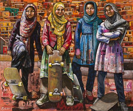 Erin Currier, 'Kabuli Schoolgirls', 2017