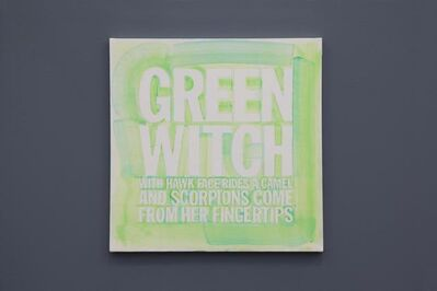 John Giorno, ' GREEN WITCH WITH A HAWK FACE'RIDES A CAMEL AND SCORPIONS COME FROM HER FINGERTIPS', 2012