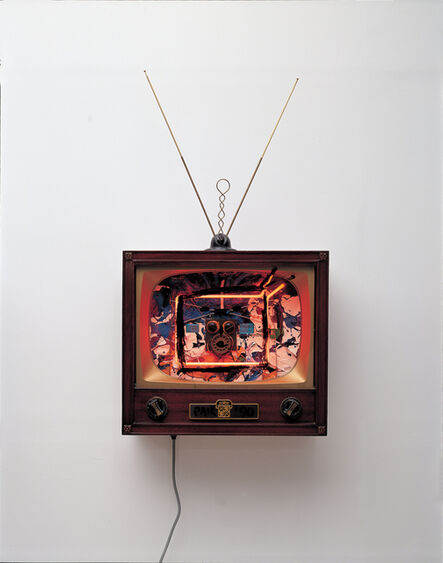 Nam June Paik, 'Neon TV - Buttons', 1990