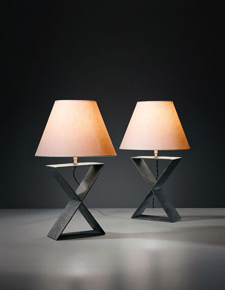 """Jean-Michel Frank, 'Pair of """"X"""" table lamps, from the Hotel Horizonte, Mar del Plata', ca. 1940"""