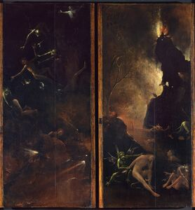 Hieronymus Bosch, 'Visions of the Hereafter Hell', 1505-1515