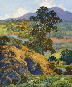 Maxfield Parrish, 'New Hampshire Hills', 1932