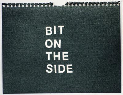 Betty Tompkins, 'Bit on the Side (black)'