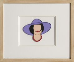 Tom Wesselmann, 'Monica with a Purple Hat', 1985