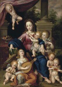 Dirck de Quade van Ravesteyn, 'The Virgin and Child with angels'