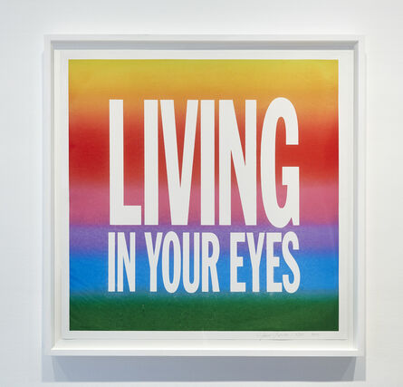 John Giorno, 'LIVING IN YOUR EYES', 2017