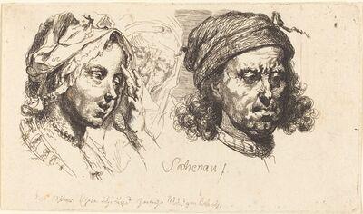 Johann Eleazar Schenau, 'Young Woman, Old Woman, and Man with Long Hair', 1765