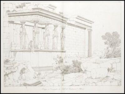 Louis-François Cassas, 'Portique et cariatydes due temple de pandrose a athenes', 1813
