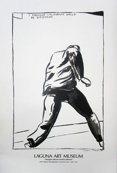"""Raymond Pettibon, '""""I Thought California Would be Different"""" Raymond Pettibon Laguna Art Silkscreen Musuem Poster ', 1992"""