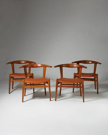 """Hans Jørgensen Wegner, 'Set of """"Bull"""" armchairs model JH 518', 1961"""