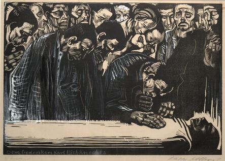 Käthe Kollwitz, 'Memorial Sheet of Karl Liebknecht (Gedenkblatt für Karl Liebknecht)', 1919-1920