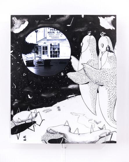 Gaku Tsutaja, 'Study with the Moon', 2018
