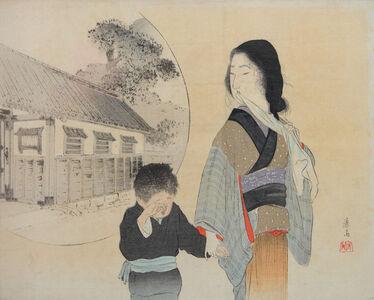 Tomioka Eisen, 'Mother and Son', ca. 1900