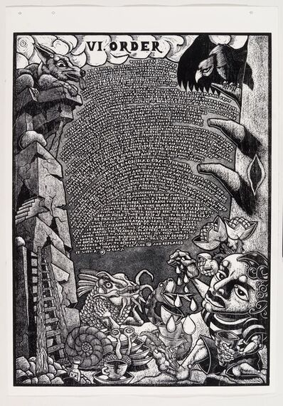 Jay Bolotin, 'VI. Order            The Book of Only Enoch, 2011-2014 A portfolio of 20 woodcuts drawn and cut by Jay Bolotin over a 4 year period', 2011-2014