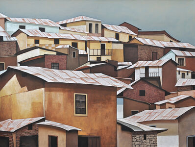 Silvia PintoSouza, 'Tin Roofs II _ Rural South American towns, Colorful textures, Earth tones', 2019