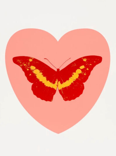 Damien Hirst, 'I Love You - Pink/Poppy Red/Cool Gold', 2015