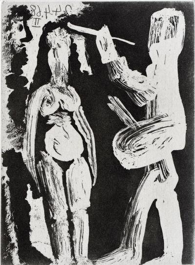 Pablo Picasso, 'Painter, Model and Viewer, from: Series 347| Peintre, modèle et spectateur', 1968
