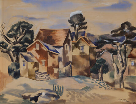 Jan Matulka, 'Untitled (Houses)'