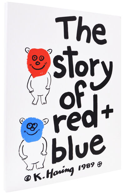 Keith Haring, 'The Story of Red and Blue', 1990