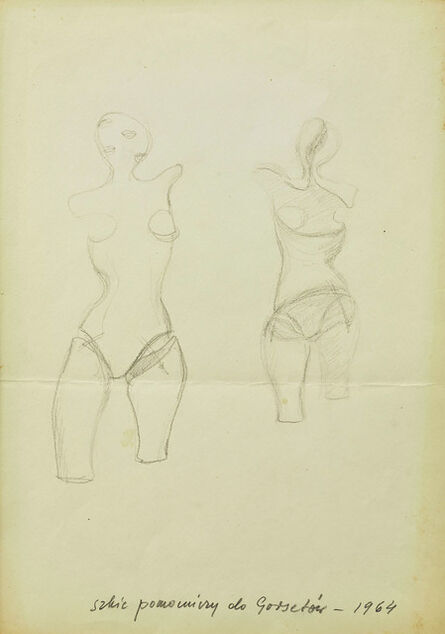 """Maria Pinińska-Bereś, 'Sketch for """"Corsets"""" (Gorsety)', 1964"""